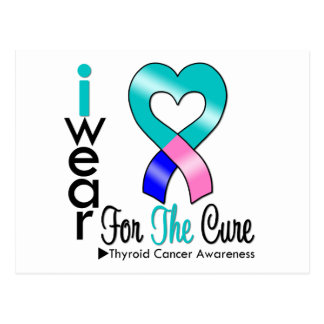 THYROID CANCER Ribbon For The Cure Postcard
