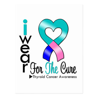 THYROID CANCER Ribbon For The Cure Post Card