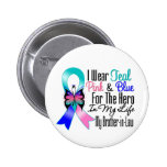 Thyroid Cancer Ribbon Hero My Brother in Law Buttons