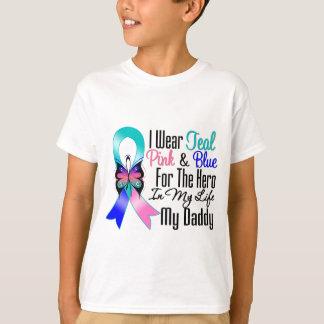 Thyroid Cancer Ribbon Hero My Daddy T-Shirt