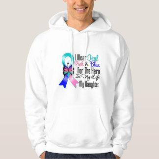 Thyroid Cancer Ribbon Hero My Daughter Hoodie