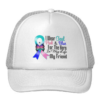 Thyroid Cancer Ribbon Hero My Friend Trucker Hat
