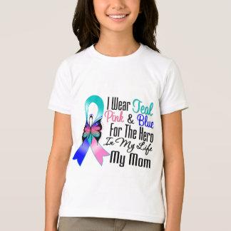 Thyroid Cancer Ribbon Hero My Mom T-Shirt