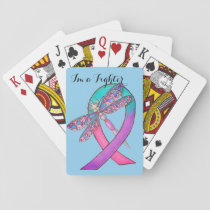 Thyroid Cancer Ribbon Playing Cards