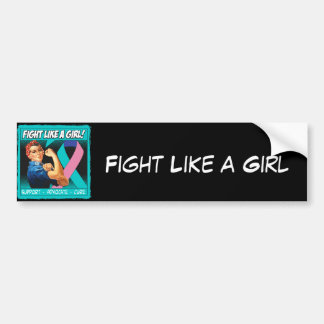 Thyroid Cancer Rosie Riveter - Fight Like a Girl Car Bumper Sticker
