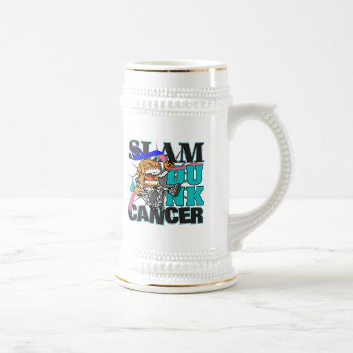 Thyroid Cancer - Slam Dunk Cancer Coffee Mugs