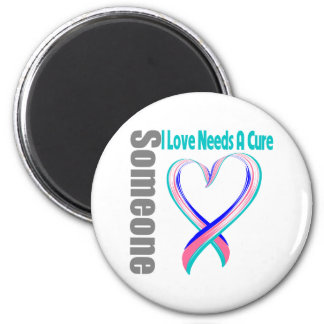 Thyroid Cancer Someone I Love Needs A Cure Refrigerator Magnets