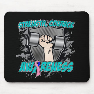 Thyroid Cancer Strength Courage Men Mousepad