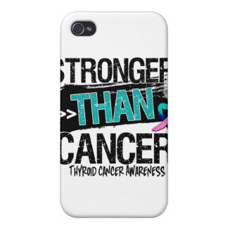 Thyroid Cancer - Stronger Than Cancer iPhone 4 Cover