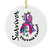 Thyroid Cancer Survivor 15 Ceramic Ornament