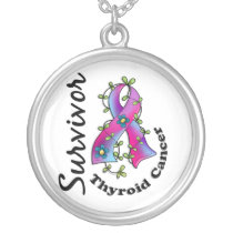 Thyroid Cancer Survivor 15 Silver Plated Necklace