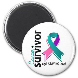 Thyroid Cancer Survivor 19 2 Inch Round Magnet