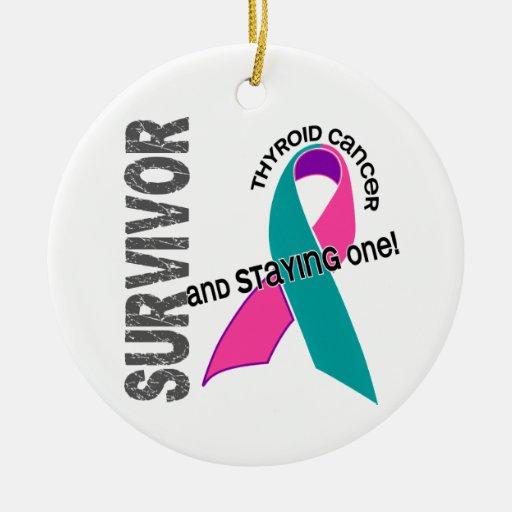 Thyroid Cancer Survivor 1 Christmas Ornaments