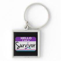 Thyroid Cancer Survivor 24 Keychain