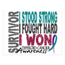 Thyroid Cancer Survivor 4 Postcard