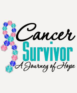 Thyroid Cancer Survivor Awareness Journey Ribbon Tshirts