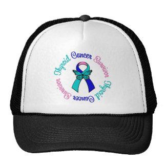 Thyroid Cancer Survivor Butterfly Ribbon Trucker Hats