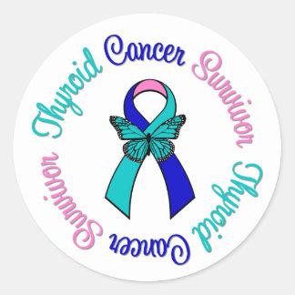 Thyroid Cancer Survivor Butterfly Ribbon Sticker