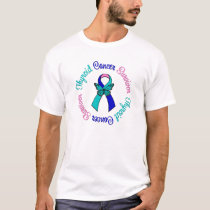 Thyroid Cancer Survivor Butterfly Ribbon T-Shirt
