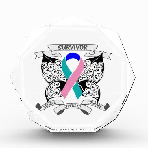 Thyroid Cancer Survivor Butterfly Strength Award