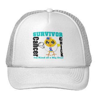 Thyroid Cancer Survivor Chick Ribbon Mesh Hat