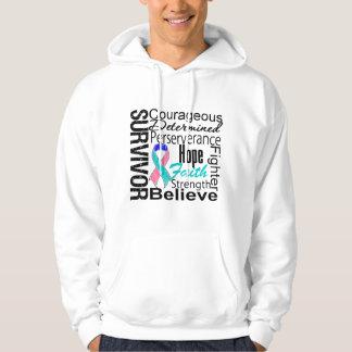 Thyroid Cancer Survivor Collage Sweatshirt