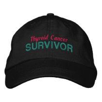 Thyroid Cancer Survivor Embroidered Baseball Hat