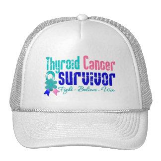 Thyroid Cancer Survivor Flower Ribbon Hats
