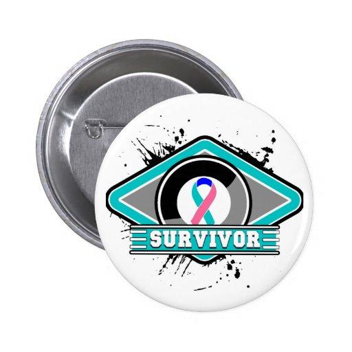 cancer survivor logo buttons and cancer survivor logo pins