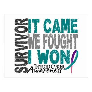 Thyroid Cancer Survivor It Came We Fought I Won Postcard