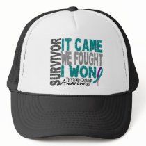 Thyroid Cancer Survivor It Came We Fought I Won Trucker Hat
