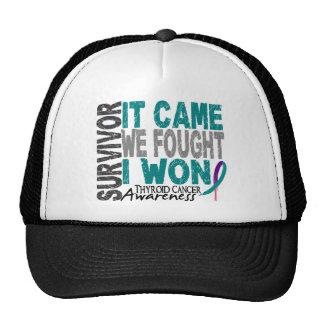 Thyroid Cancer Survivor It Came We Fought I Won Trucker Hat