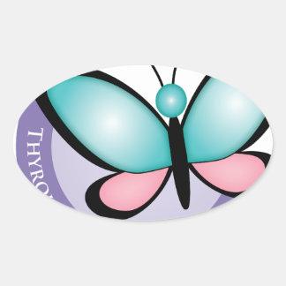 Thyroid Cancer Survivor Oval Sticker