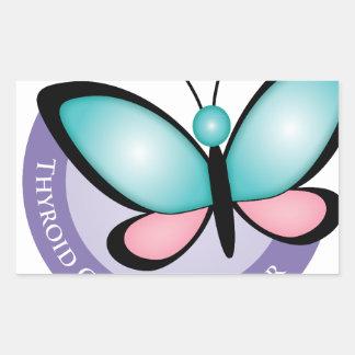 Thyroid Cancer Survivor Rectangular Sticker