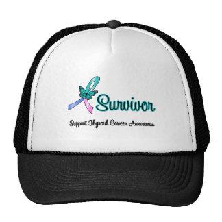 Thyroid Cancer Survivor Ribbon Butterfly Trucker Hat