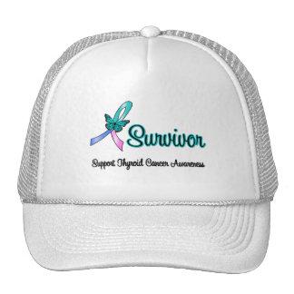 Thyroid Cancer Survivor Ribbon Butterfly Mesh Hat