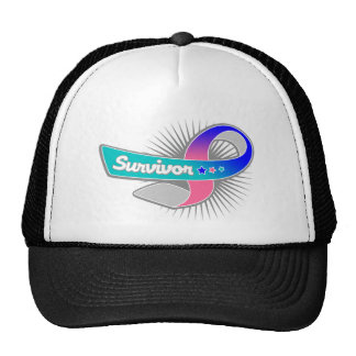 Thyroid Cancer Survivor Ribbon Hats