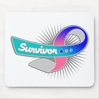 Thyroid Cancer Survivor Ribbon Mouse Pad