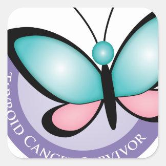 Thyroid Cancer Survivor Square Sticker