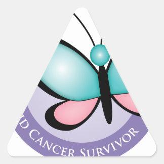Thyroid Cancer Survivor Triangle Sticker