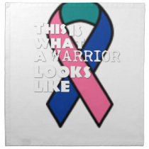 Thyroid Cancer Survivor Warrior Napkin