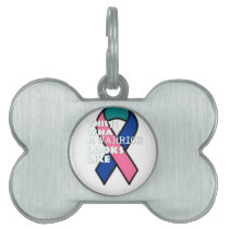Thyroid Cancer Survivor Warrior Pet Name Tag