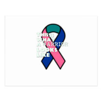 Thyroid Cancer Survivor Warrior Postcard