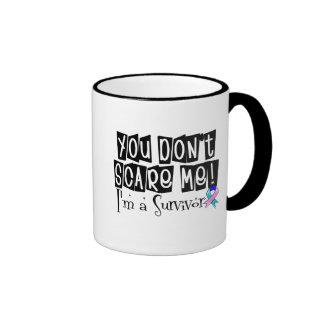 Thyroid Cancer Survivor You Don't Scare Me Ringer Mug