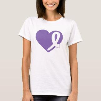 Thyroid Cancer t-shirt Purple Heart and Ribbon
