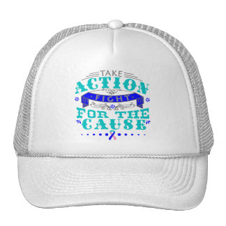 Thyroid Cancer Take Action Fight For The Cause Trucker Hat