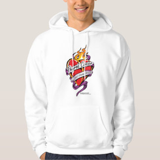 Thyroid Cancer Tattoo Heart Hoodie