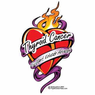 Thyroid Cancer Tattoo Heart Statuette