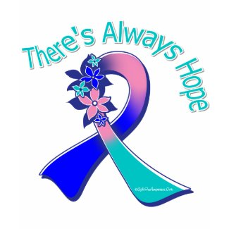 Thyroid Cancer There's Always Hope Floral shirt