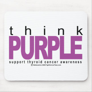 Thyroid Cancer Think Purple Mouse Pad